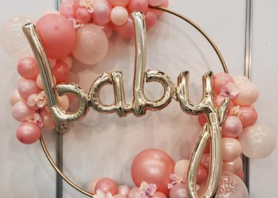 Baby shower balloons!