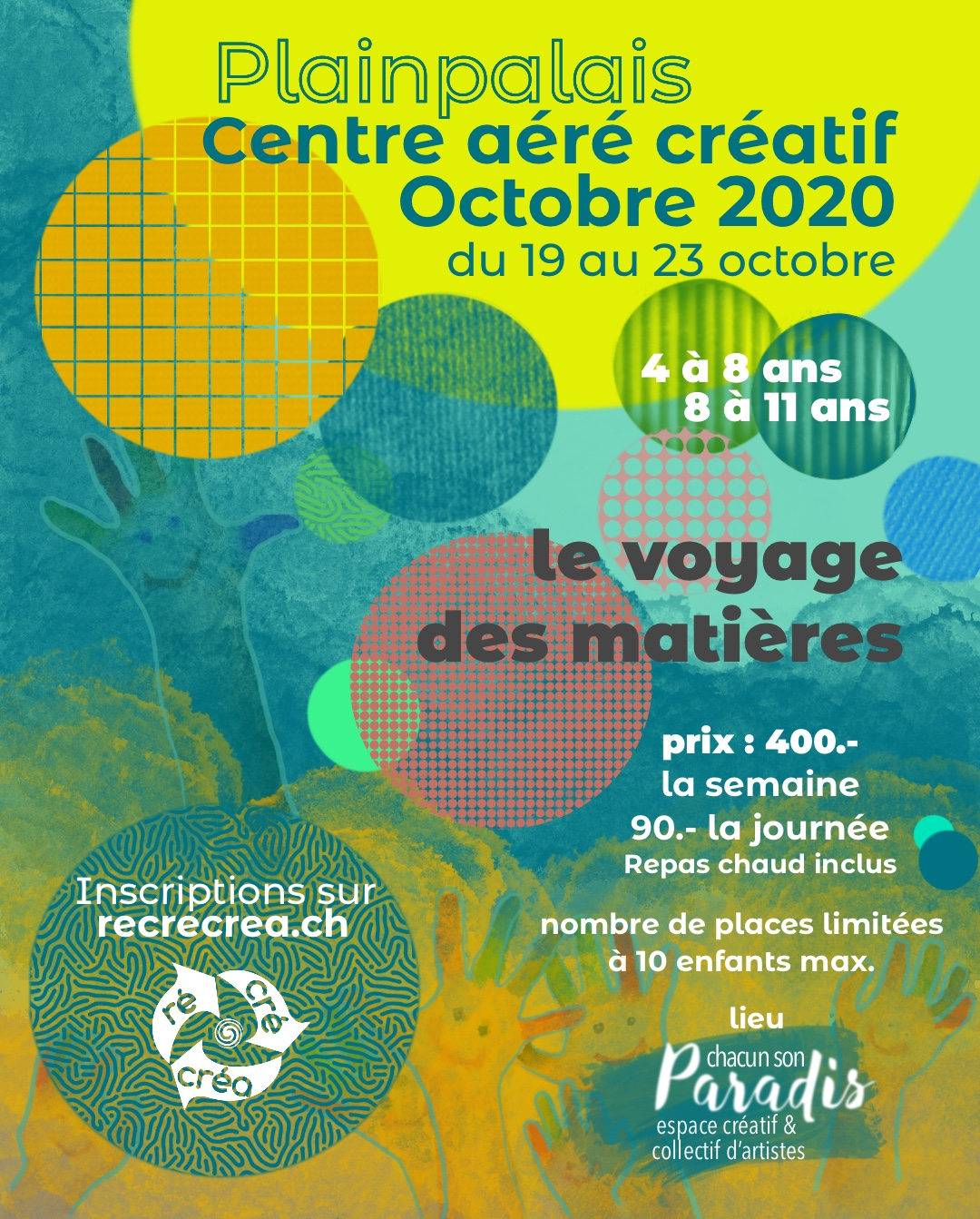 recrecrea october camps geneva 2020